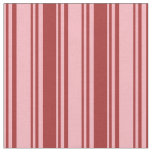 [ Thumbnail: Light Pink and Brown Lined Pattern Fabric ]
