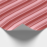 [ Thumbnail: Light Pink and Brown Lined Pattern Wrapping Paper ]