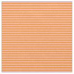 [ Thumbnail: Light Pink and Dark Orange Lines Fabric ]