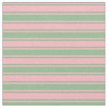 [ Thumbnail: Light Pink and Dark Sea Green Stripes Pattern Fabric ]