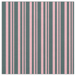 [ Thumbnail: Light Pink and Dark Slate Gray Colored Lines Fabric ]