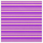 [ Thumbnail: Light Pink and Dark Violet Lined Pattern Fabric ]