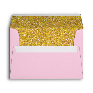Light Pink and Gold Envelope | A7 Size | 5x7 Card