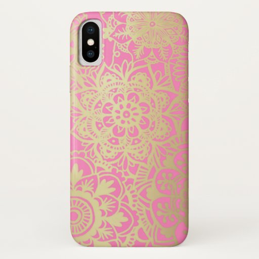 Light Pink and Gold Mandala Pattern Case