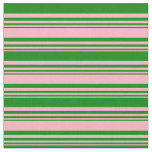 [ Thumbnail: Light Pink and Green Colored Lines Fabric ]