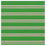 [ Thumbnail: Light Pink and Green Colored Stripes Fabric ]
