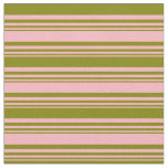 [ Thumbnail: Light Pink and Green Lines/Stripes Pattern Fabric ]