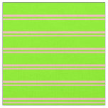 [ Thumbnail: Light Pink and Green Stripes Pattern Fabric ]
