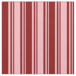 [ Thumbnail: Light Pink and Maroon Striped/Lined Pattern Fabric ]