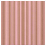[ Thumbnail: Light Pink and Sienna Lined/Striped Pattern Fabric ]