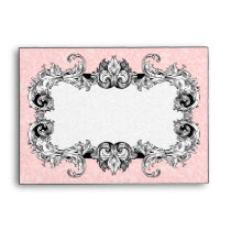 Light Pink and White A6 Gothic Baroque Envelopes
