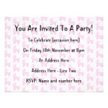Light Pink and White Baby Stroller Pattern. Personalized Announcements