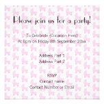Light Pink and White Baby Stroller Pattern. Personalized Invitations