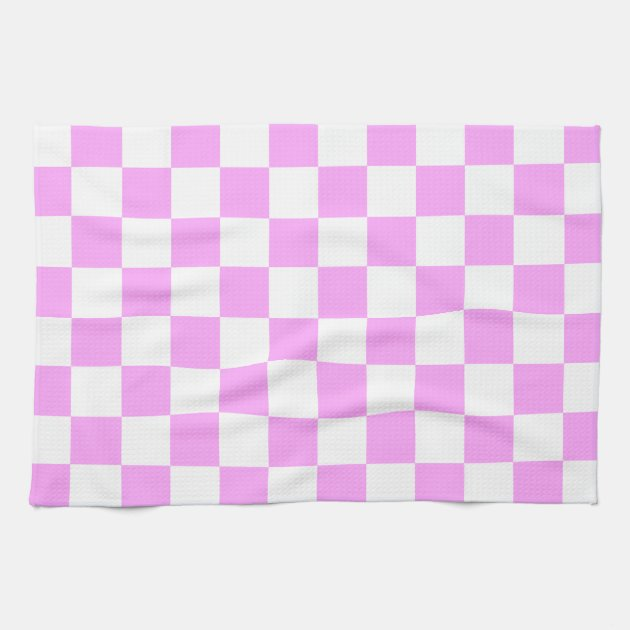 pink and white checkerboard