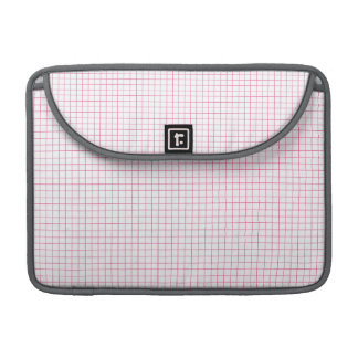 Light Pink and White Checkered Plaid Pattern MacBook Pro Sleeves