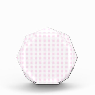 light pink and white gingham pattern preppy girly acrylic award