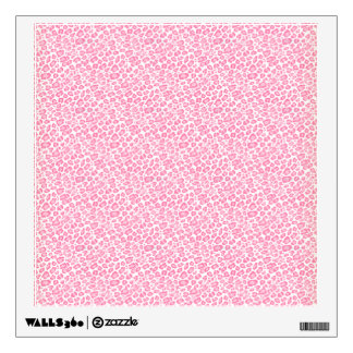 Light pink and white leopard print design wall decal