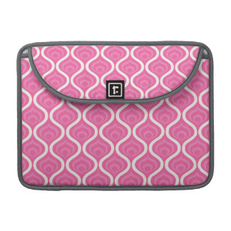 Light Pink and White Retro Pattern Sleeve For MacBook Pro