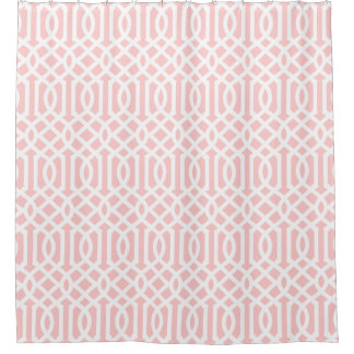 Light Pink and White Trellis Shower CurtainLight Pink Shower Curtains   Zazzle. Pale Pink Shower Curtain. Home Design Ideas