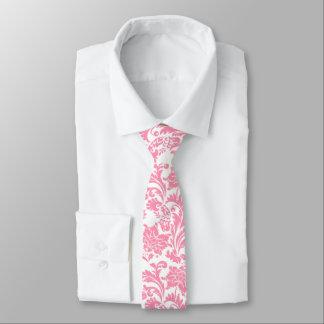 Light Pink And White Vintage Floral Damasks Tie