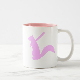 Light Pink Angry Squirrel Mugs