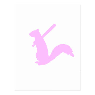 Light Pink Angry Squirrel Postcard