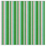 [ Thumbnail: Light Pink, Aquamarine & Green Lines Fabric ]