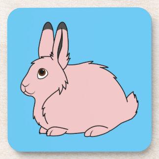 Light Pink Arctic Hare Coaster