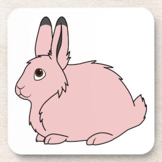 Light Pink Arctic Hare Drink Coaster