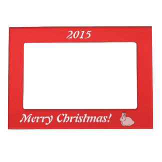 Light Pink Arctic Hare Magnetic Photo Frame