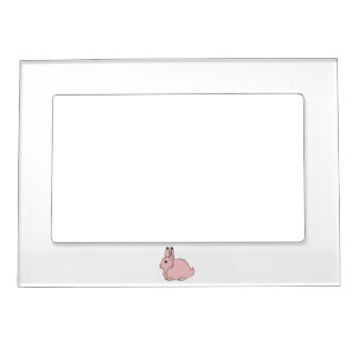Light Pink Arctic Hare Magnetic Picture Frame
