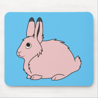 Light Pink Arctic Hare Mouse Pad