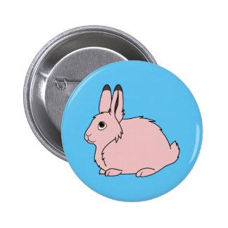 Light Pink Arctic Hare Pinback Button