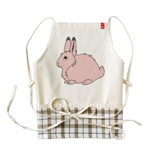 Light Pink Arctic Hare Zazzle HEART Apron