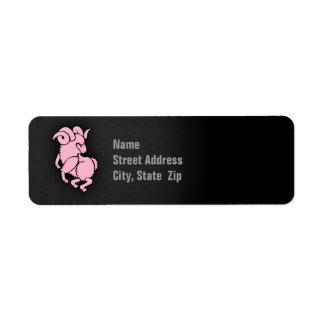 Light Pink Aries Label