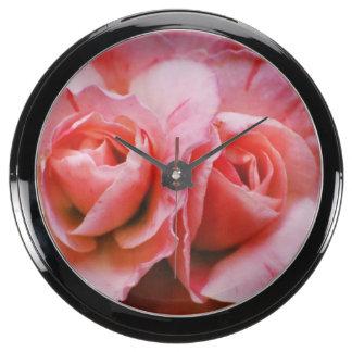 Light Pink Azalea Aqua Clocks