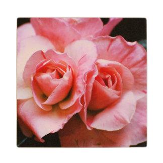 Light Pink Azalea Maple Wood Coaster