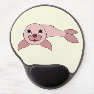 Light Pink Baby Seal Gel Mouse Pad
