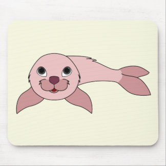 Light Pink Baby Seal Mouse Pad