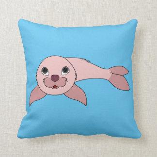 Light Pink Baby Seal Throw Pillow