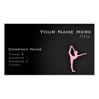 Light Pink Ballet Dancer Business Card Templates