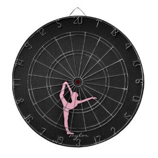 Light Pink Ballet Dancer Dartboard
