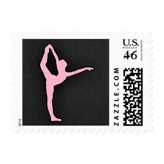 Light Pink Ballet Dancer Postage Stamp