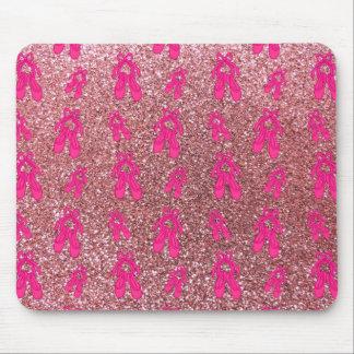 Light pink ballet slippers glitter pattern mousepads