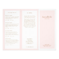 Light Pink Beauty Day Spa Salon TriFold Brochure