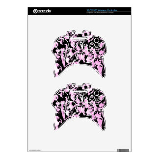 Light Pink, Black and White mix -SK- Xbox 360 Controller Decal