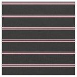 [ Thumbnail: Light Pink & Black Colored Pattern Fabric ]