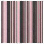 [ Thumbnail: Light Pink & Black Pattern Fabric ]