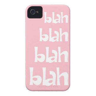Light Pink Blah Blah Blah iPhone 4s Case