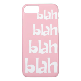 Light Pink Blah   iPhone 7 case